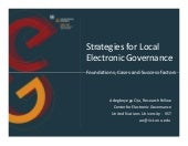 Strategies for Local Electronic Gov...