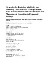 Strategies for reducing morbidity a...