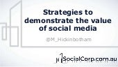 Strategies to profile social media's value