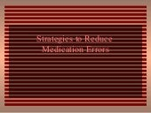 Strategies to Reduce Errors