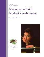 Strategies vocabulary 080808