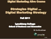 Strategize digital  digital marketing strategy 9-13-11