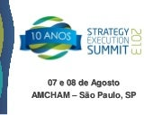 Strategy Execution Summit 2013 - Pr...