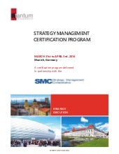 Strategy management certification p...