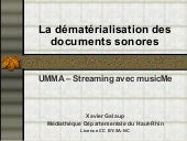 Streaming musical en bibliothèque -...