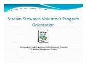 Stream stewards orientation