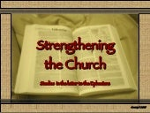 Strengthening The Church   Ephesians 1