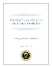 Strengthening Our Military Families...