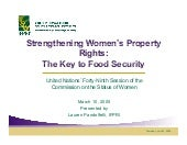 Strengthening Womens Property Right...
