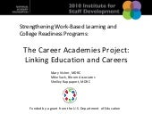 Strengthening work based learning a...
