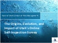 Utah Internal Survey for Managing Risk