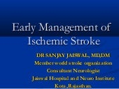 Acute  management of Stroke By Dr ...