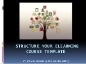 Structure your elearning course