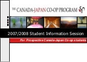 Student Info Session 2007 2008 Cana...