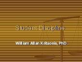 Student Discipline - Dr. William Al...