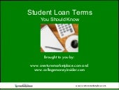 Student Loan Terms You Should Know