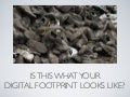Student presentation on digital footprint