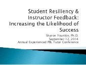 Student resilience and instructor feedback