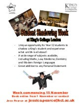 Student shadowing week flyer