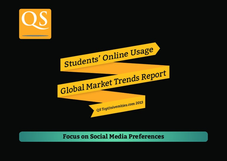 Students' Online Usage Report 2013 I Social Media Preferences