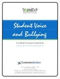 Student Voice and Bullying, a SoundOut Focus Paper