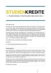 Studienkredite