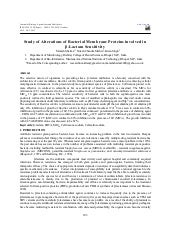 Study of alterations of bacterial m...