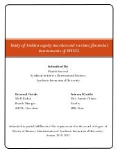 Study Of Indian Equity Market And V...
