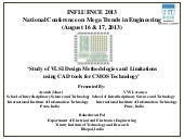 Study of vlsi design methodologies ...