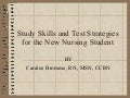 NurseReview.Org - Study Skills and Test Strategies for the New Nursing Student