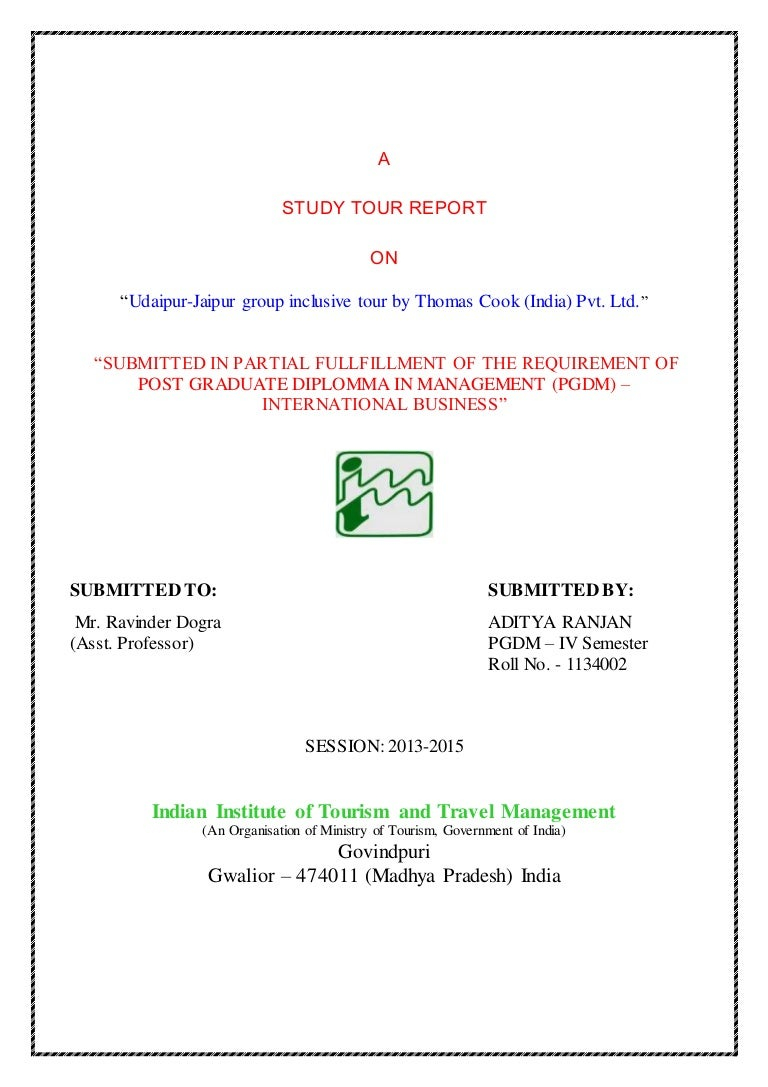 Business study report – Business Trip Report Format