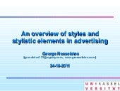 Styles and stylistic elements in ad...