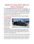 Stylish new Toyota will be offered at Toyota of Clermont