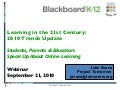 Learning in the 21st Century Webinar