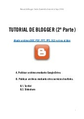 Tutorial de Blogger 2014 Segunda Pa...