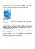 Subliminal MP3s Review: Subliminal Language Learning