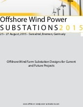 Current and Future Projects on Offshore Wind Farm Substations