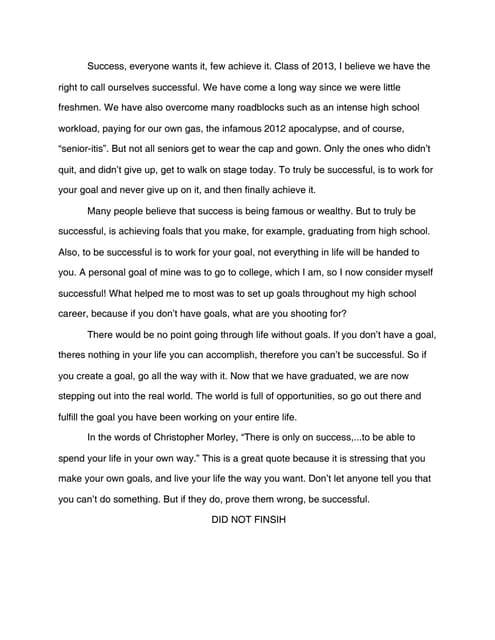 how do you define success essay success definition essay success ...