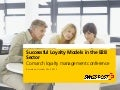 Successful loyalty models in the b2b sector