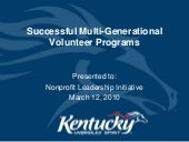 Successful Mulit Generation Volunte...