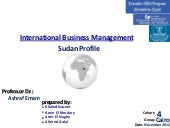 Sudan investment profile