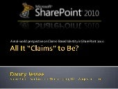 Claims-Based Identity in SharePoint...