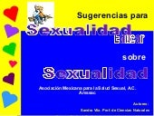 Sugerencias Para La EducacióN Sexual