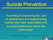 Suicide prevention - New Zealand 2009