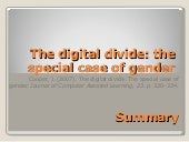 Digital Divide: The Special Case of...