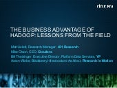 The Business Advantage of Hadoop: L...