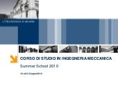Summer School Meccanica_2010