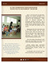 Summer youth leadership training ne...