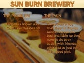 Sun burn brewery slideshare