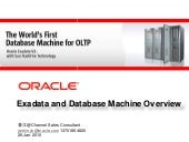 Sun Oracle Exadata Technical Overvi...